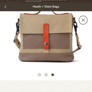 Heath ceramics canvas and leather bag